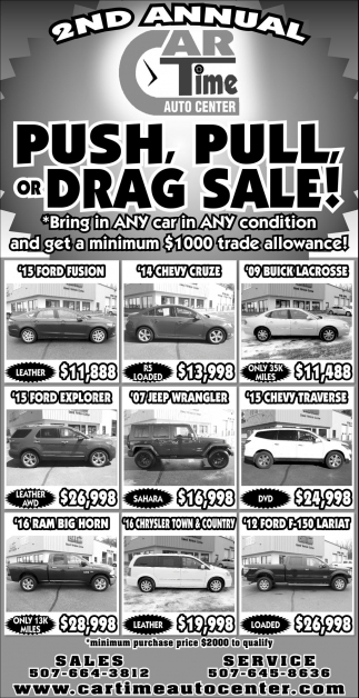 2nd Annual Push, Pull, or Drag Sale