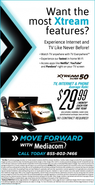 Mediacom Cable | Want the most Xtream features? | Services Ads ...