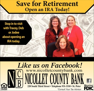 Save for Retirement Open an IRA Today!