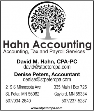 Ads For Hahn Accounting in Southern Minn