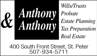 Ads For Anthony And Anthony Attorneys At Law in Southern Minn