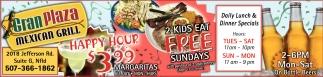 2 Kids Eat Free Sundays