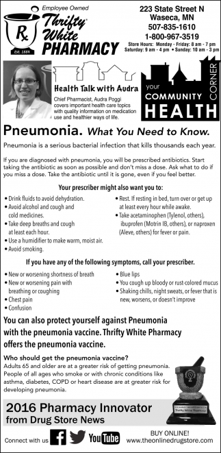Pneumonia. What You Need to Know.
