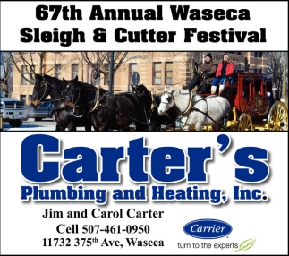 67th Annual Waseca Sleigh & Cutter Festival, Carter's Plumbing And Heating, Inc, Waseca, MN