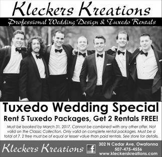 Tuxedo Wedding Special