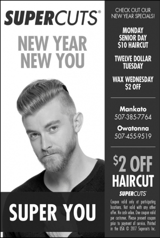 $2 Off Haircut