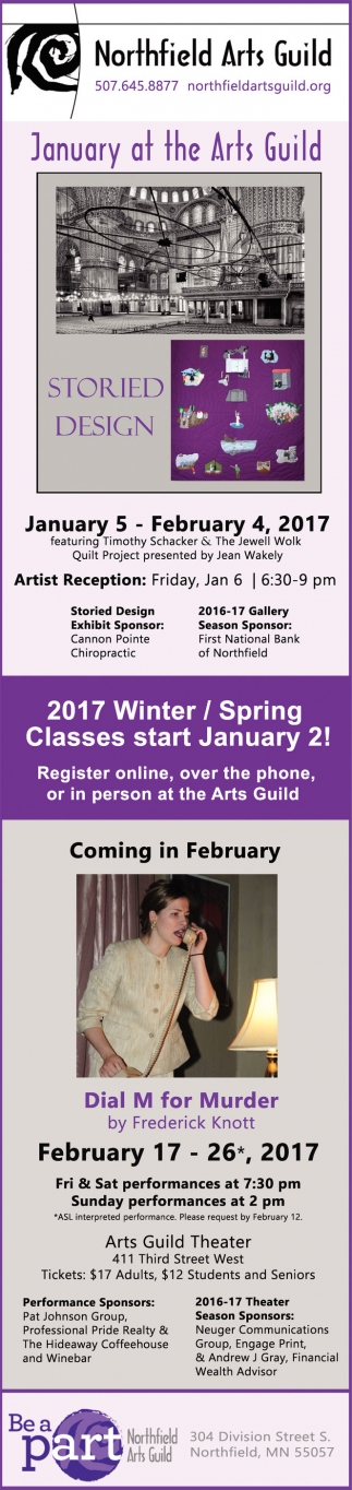 January at the Arts Guild