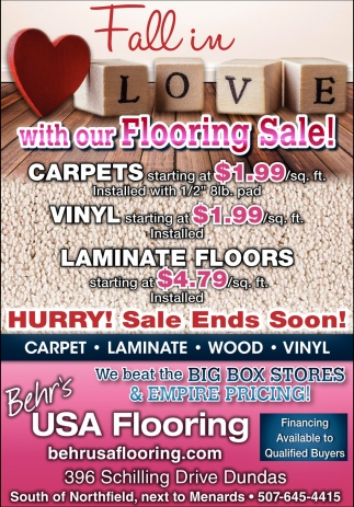 Fall in Love with our Flooring Sale!