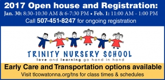 2017 Open house and Registration
