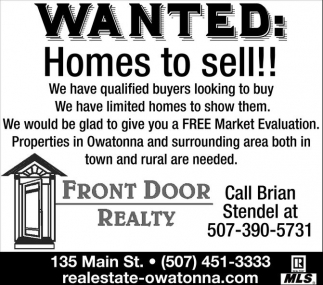 Wanted: Homes to sell!!