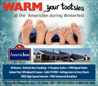 Warm your tootsies at the AmericInn during Winterfest