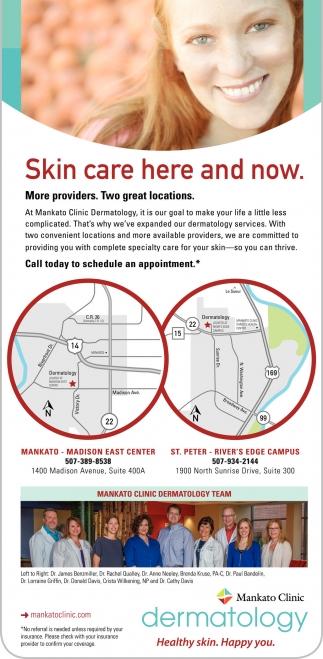 Dermatology. Healthy skin. Happy you