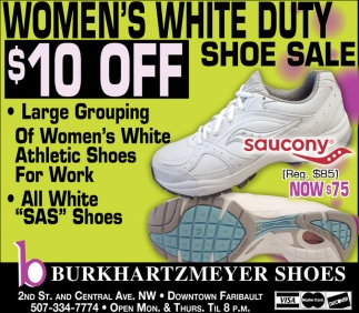 Women's White Duty Shoe Sale $10 off