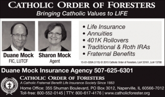 Bringing Catholic Values to LIFE, Catholic Order Of Foresters, Naperville, IL