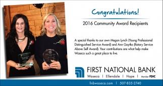 Congratulations! 2016 Community Award Recipients