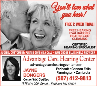 Free hearing evaluations, hearing aid cleaning