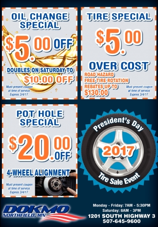 President's Day 2017 Tire Sale Event