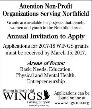 Annual Invitation to Apply