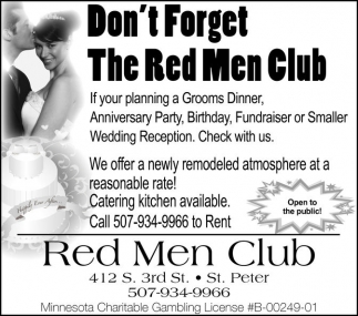 Don't Forget The Red Men Club