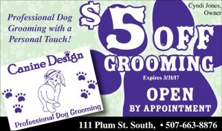 $5 off Grooming