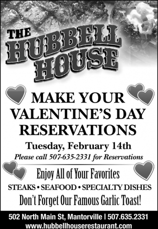 Make your Valentine's Day Reservations