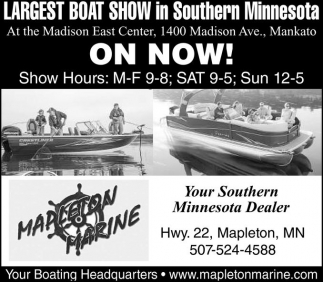 Largest Boat Show in Southern Minnesota, Mapleton Marine, Mapleton, MN