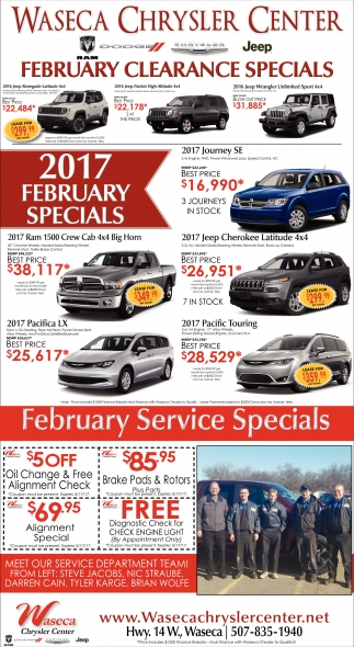 February Clearance Specials