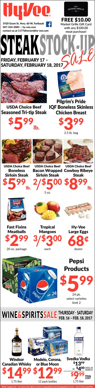 Steak Stock-Up Sale