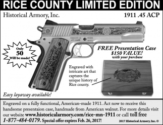 Rice County Limited Edition, Historical Armory, Fort Collins, CO