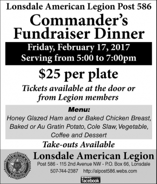 Commander's Fundraiser Dinner