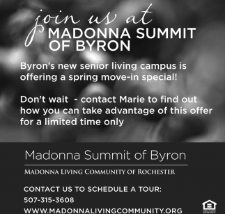 Join us at Madonna Summit of Byron