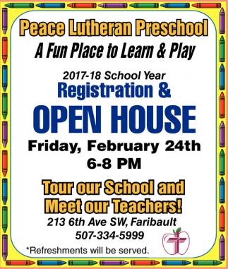 Registration & Open House