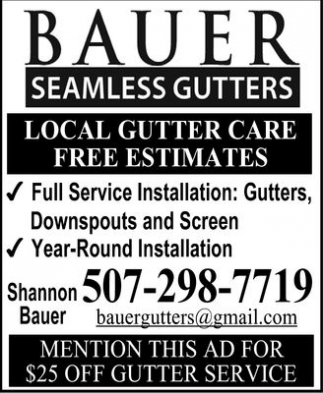 Installation and Replacement: Gutters, Downspouts and Screen