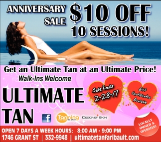 Anniversary Sale $10 off 10 sessions!