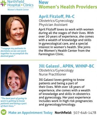 New Women's Health Providers