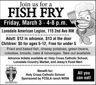 Fish Fry, Holy Cross Catholic School , Webster, MN
