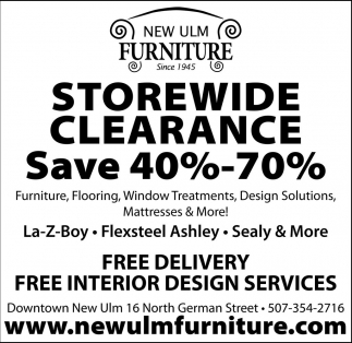 Storewide Clearance Save 40% - 70%