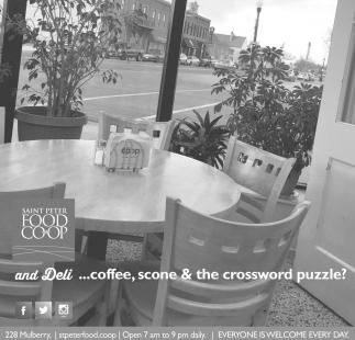 And Deli... coffee, scone & the crossword puzzle?