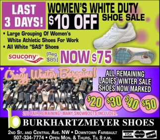 Women's White Duty Shoe Sale