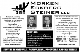 Serving Individuals, Agricultural Producers, and Businesses, Morken Eckberg Steiner Llc, Mankato, MN