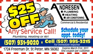 $25 off any service call!