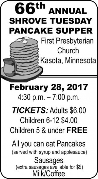 Ads For First Presbyterian Church - Kasota in Southern Minn