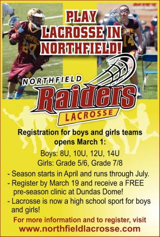 Registration for boys and girls teams opens March 1