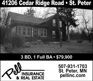 Ads For Pell Insurance And Real Estate in Southern Minn