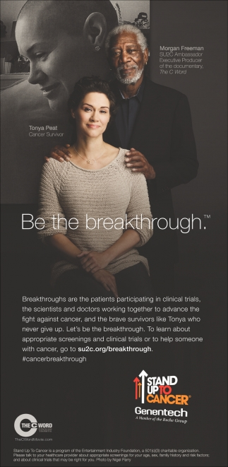 Be the breakthrough, Stand Up To Cancer
