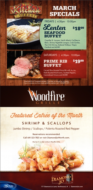 The Kitchen Buffet March Specials