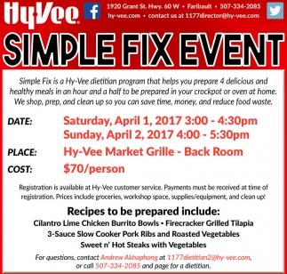 Simple Fix Event