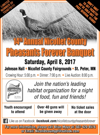 14th Annual Nicollet County Pheasants Forever Banquet