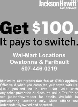 Get $100 It pays to switch