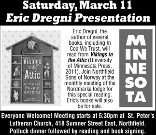Presentation Saturday March 11 Eric Dregni